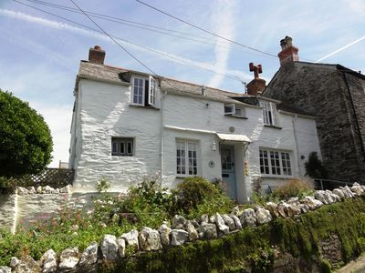 Photo for Beautiful C17th cottage with great views, garden/parking, in Boscastle village