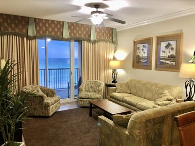 Photo for Azure 502 - 4 BR/3 Bath - Huge Balcony!    Fifth floor 180 view of the beach