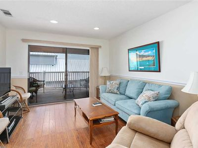 Photo for Oceanfront Condominium with Balcony, Pool and Boardwalk to Beach.