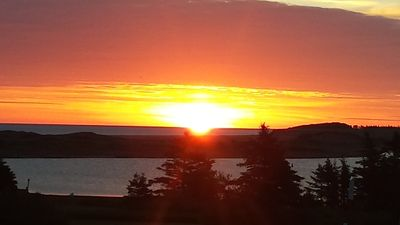 """A sunrise at the cottage by """"Chloe"""" (from Kentucky) our cottages 1st ever guests"""