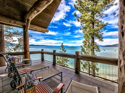 Photo for Exclusive! Balconies w/ lake views, 3 masters, 2 kings, Pool,AC+Sierra Shores