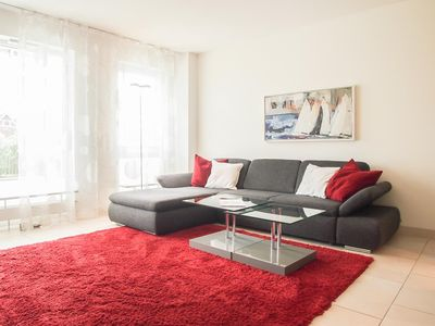 Photo for Exclusive 2-room apartment for 2 people with large sun terrace just 50 meters from the beach, Wi-Fi, elevator and underground parking.
