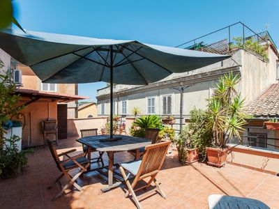 Photo for Rome, Trastevere, modern apartment for 4 people with a wonderful terrace