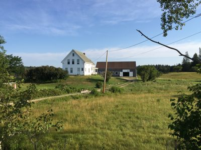 Photo for Beautiful 1800's Waterfront Farmhouse with Guesthouse and Barn