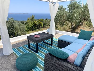 Photo for Chic Alonissos Luxury Villa Pool with stunning sea view. Privacy & charm. Wireless