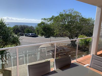 Photo for Beautiful views from your balcony, directly opposite the beach