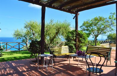 Photo for Beautiful panoramic villa with a sea view garden few minutes from the beach