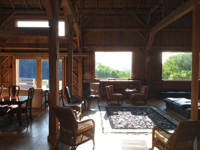 Stunning renovated Catskills barn from 1883, moved up hill in 1987.