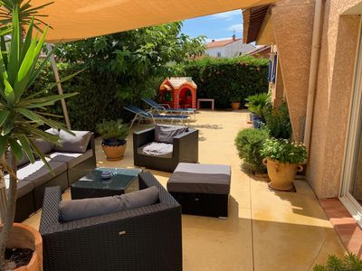 Photo for Beautiful contemporary villa beachfront Narbonne-Plage