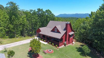 Photo for The Overlook is a modern cabin with mountain views and a park-like feel. Non pet-friendly.