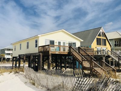 Ocean Front Beach House. Direct View of Gulf of Mexico.