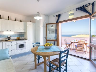 Photo for Torre dei Corsari sea view apartment with beach under the house for 5 people