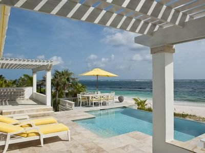 Photo for Private Beachfront Estate with 2 Pools, Home Theater, on Pink Sand Beach!
