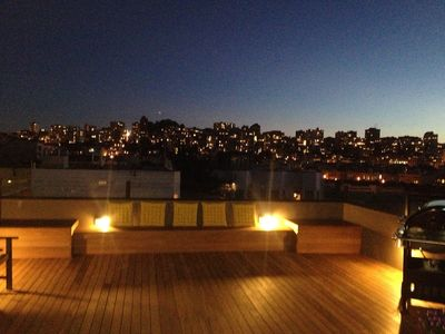 Beautiful modern deck (private) with incredible city views !!