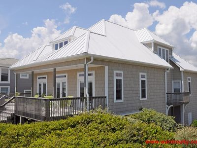 Photo for Luxurious, 4 BR Oceanfront Home with Covered Porch & more! - White Pearl