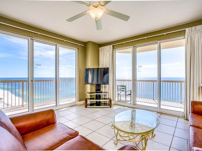 Photo for Gulf front 3 bedroom with views galore!  Sunrise #2401