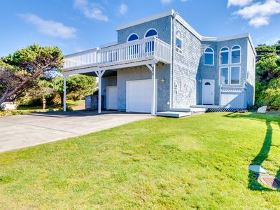 Photo for Oceanfront home with balcony, wood stove, and spectacular sea views!