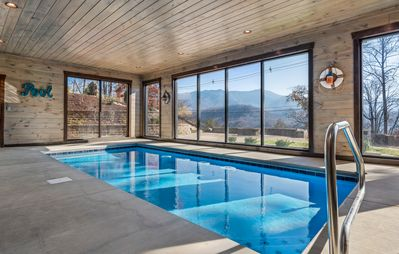 Photo for Greystone Retreat:New luxury lodge, heated pool, theater room, amazing view, gas firepit, large deck