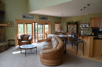 Main Floor/Great Room   Access to large deck with grill