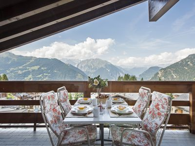Photo for Verbier, Medran top floor apt with stunning uninterrupted views over the valley