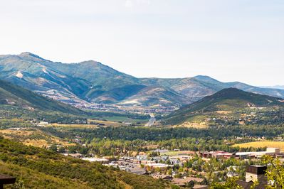 Fabulous down valley views towards the Park City area and Canyons Village