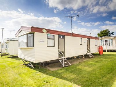 Photo for 7 berth caravan for hire at California Cliffs Gt Yarmouth, Norfolk ref 50045H