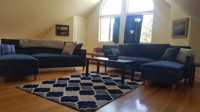 Photo for Full Suite w/ kitchen, private bedroom, sofa couches and large living area.