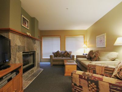 Photo for Powderhorn #104  1 Bedroom + Den with Balcony, Kitchen and Fireplace