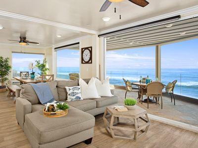 Beachfront Vacation Rental in Oceanside, Designer Decorated & AC Equipped
