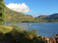 Great house on shore of loch Duich