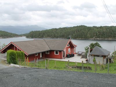 Photo for Large holiday home for 8 people directly on the fjord with jacuzzi and beautiful terrace