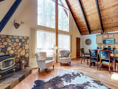 Photo for Enchanting alpine chalet w/ wood stove, lots of room, & a prime location!