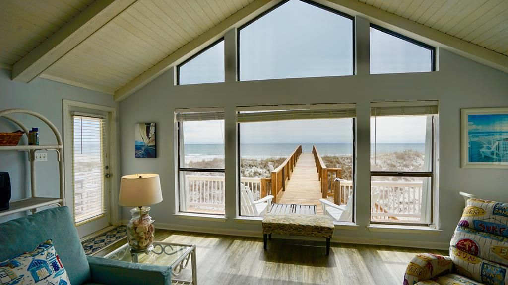 Private Gulf Front Home Walkway Directly To The Beach New Furniture Picture Window Views Ss