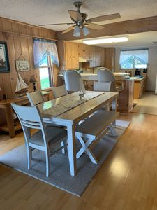 Lakefront cottage with sandy beach and great fishing on Gun Lake in Fountain MI