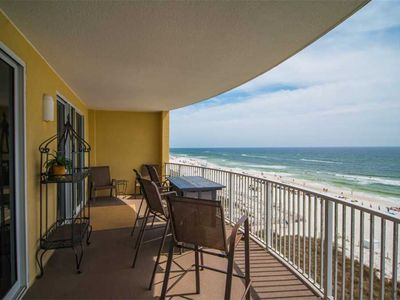 Photo for Big Beachfront Balcony for Parties of Six + Free Beach Chairs