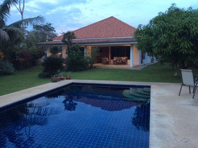 Photo for Villa 130 m2 and a private pool. The house has 3 rooms accommodating 5 adults + 2 children.