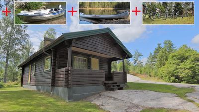 Photo for BEAUTYFULL COTTAGE WITH MOTORBOAT, CANOE AND BIKES