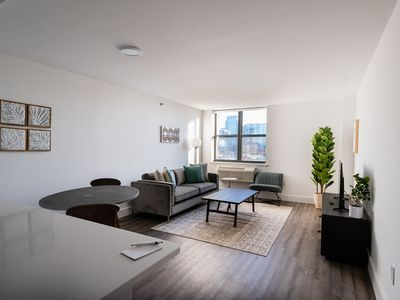 Photo for Modern & Bright 2BR w/Gym, 15 Min From NYC