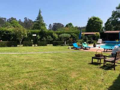 Photo for Beautiful villa in meluerda with pool