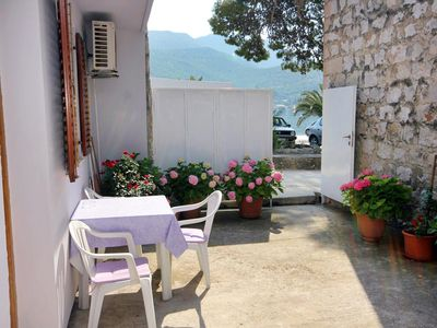 Photo for Studio flat with terrace Zaton Veliki, Dubrovnik (AS-2107-a)