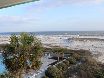 Photo for Beach Front condo with Amazing Views from Private Balcony