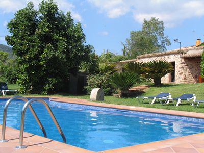 Photo for Country house of 6000 m2 of garden and fruit trees Private pool, barbecue. Wifi