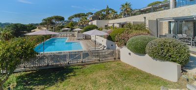 Photo for LODGES PANORAMIC SEA VIEW AT 400 M FROM THE BEACH HEATED HEATED SWIMMING POOL