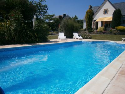 Photo for Luxurious villa. Beach, heated pool, SPA 38 °, fitness area. Billard. Sauna