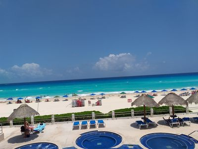 Photo for BEAUTIFUL VILLA ON THE BEST BEACH OF CANCUN