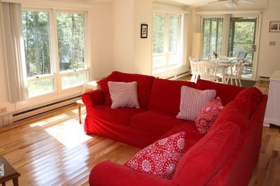 It's All About the Lakeshore -  Living Room-Dining Area-Screen Porch
