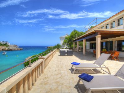 Photo for VILLA COLOM. With direct access to the beach and the sea.