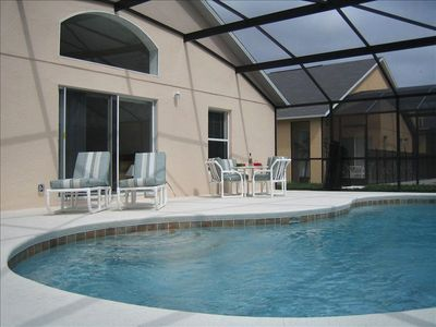 Relax by the south facing pool