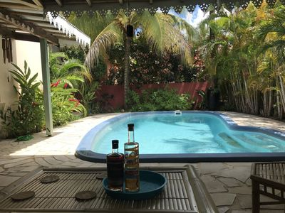 Photo for cocooning villa tropical atmosphere with swimming pool near beaches