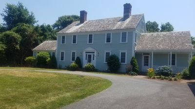 Photo for Private Resort Feel. Heated Inground Pool. Large Colonial near Bay Beaches.